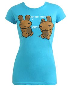 Blue Funny Graphic Tee in Lilypanda's Garage Sale in Denton , TX for $5. Blue (slightly darker than picture). Size Small. Two cute chocolate bunnies. Wet Seal. Will provide additional pictures or details if requested! :)