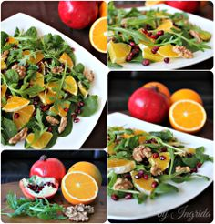 Orange Pomegranate & Walnuts Salad