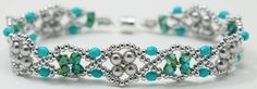 Deb Roberti's Byzantium Band done in turquoise and silver.
