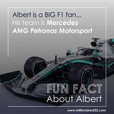 FUN FACT About Albert  Did you know Albert is a BIG F1 fan...?😎  His team is Mercedes AMG Petronas Motorsport🙌  Whats your favourite team?💪  www.millionaireat22.com 🌍  #albertvanwyk #millionaireat22 #funfactaboutalbert #mercedesamg #f1racing Amg Petronas, Monday Quotes, F1 Racing, Mercedes Amg, Did You Know, Fun Facts, Fan, Hand Fan, Funny Facts