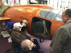"""Charles """"Chuck"""" Yeager stopped by the Museum last Friday to visit with the Bell X-1, the airplane in which he broke the sound barrier 68 years ago last month."""