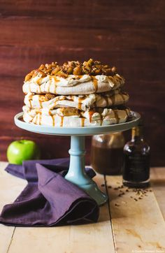 Salted Caramel Apple Pie Pavlova