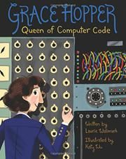 Grace Hopper: Queen of Computer Code by Laurie Wallmark- The inspiring story of Grace Hopper, the boundary-breaking woman who revolutionized computer science, is told in an engaging picture book biography. The Computer, Computer Science, Computer Hacker, Computer Literacy, Computer Books, Media Literacy, Nonfiction Books For Kids, Thing 1, Science Books