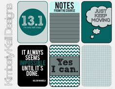 """13.1- I'm Only Half Crazy"" Ha!  A Year's Worth of Printable Note Cards via This Kalil Life"