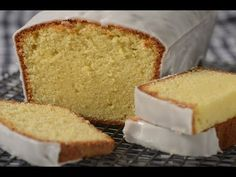 Recipe here:   Stephanie Jaworski of   demonstrates how to make a Lemon Frosted Pound Cake. This Lemon Frosted Pound Cake is very similar to the one my mother used to make. Trifle, Nutella, Starbucks Lemon Loaf, Lemon Loaf Cake, Lemon Frosting, Cheesecake, Brunch, Pound Cake Recipes, Bread Recipes