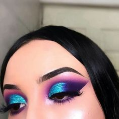 Gorgeous Makeup: Tips and Tricks With Eye Makeup and Eyeshadow – Makeup Design Ideas Makeup Eye Looks, Eye Makeup Art, Colorful Eye Makeup, Hooded Eye Makeup, Eye Makeup Tips, Cute Makeup, Glam Makeup, Gorgeous Makeup, Pretty Makeup