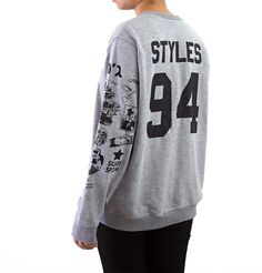 Harry Styles Tattoo Sweatshirt Sweater Crew Neck Shirt by Noonew