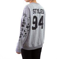 Harry Styles Tattoo Sweatshirt Sweater Crew Neck Shirt by Noonew
