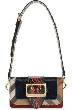 eea264a1c6e Burberry  Belt Bag  Mixed Finish Convertible Clutch with Genuine Snakeskin  Trim   Nordstrom