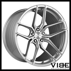 """20"""" STANCE SF03 SILVER FORGED CONCAVE WHEELS RIMS FITS INFINITI Q50 SEDAN #Stance #sf03 #forged #wheels #infiniti #q50 #vibemotorsports"""