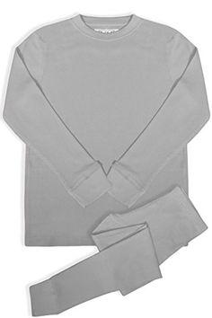 58420b61c59 Aibrou Women s 2pc Long John Thermal Underwear Set 100 Cotton Long Johns