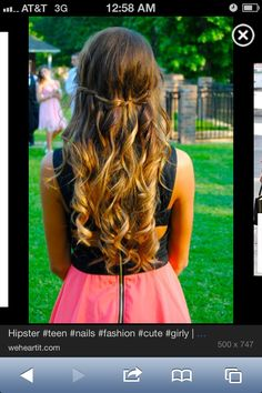 This is a good hair style for dresses well actually any outfit but I prefer it with dress or skirts