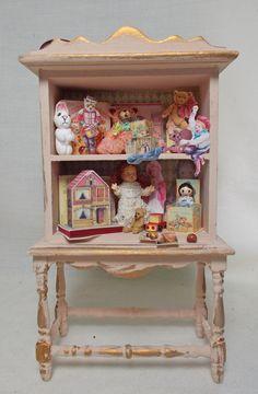 Dollhouse Miniature Nursery Antique Style by UniqueMiniatures