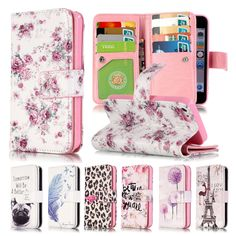 3.89$  Know more - 3D Relief Floral Painted Flowers SFor Coque iPhone 5s Case Leather Wallet Silicone Flip Case iPhone 5s Cover For iPhone 5s 5 SE   #magazineonlinebeautiful