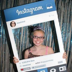 If we ever have another ASPIRE Gala this could be a fun photo booth idea Instagram Party, Instagram Photo Booth, Instagram Frame, Instagram Photobooth Frame, Photo Frame Prop, Photo Booth Props, Foto Frame, 13th Birthday Parties, 16th Birthday