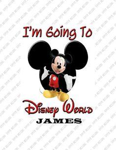 Disney World I'm Goingcustom  Iron on by SAVVYCOUNTRYDESIGNS