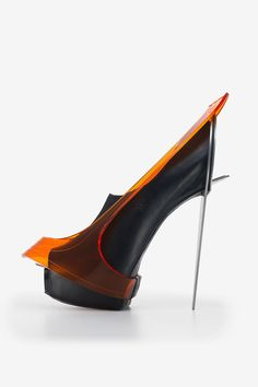 "25 Of The Most 'Killer Heels' Throughout History #refinery29  http://www.refinery29.com/2014/09/74224/killer-heels-brooklyn-museum#slide-22  Chau Har Lee. ""Blade Heel,"" 2010. Perspex, stainless steel, leather."