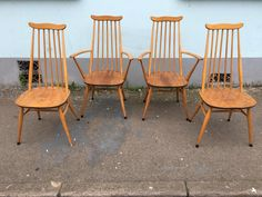 A personal favourite from my Etsy shop https://www.etsy.com/uk/listing/458398740/set-of-four-1960s-ercol-goldsmith-dining