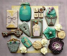 The Cookie Architect: wedding theme - I need to pay more attention to color mixing and plating