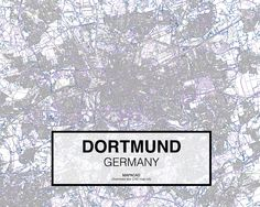 Dortmund - Germany. Download CAD Map city in dwg ready to use in Autocad. www.mapacad.com