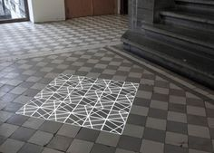 Created by Pablo Valbuena, Time Tilings are four site-specific interventions created for Artefact festival, STUK Kunstencentrum. Leuven, BE in 2013. Like in most of his projects, time tilingsis about time, space and perception.He explores the overlap of the physical and the virtual, the generation of mental spaces by the observer, the dissolution of the boundaries between real and perceived, the links between space and time and the use of light as prime matter.