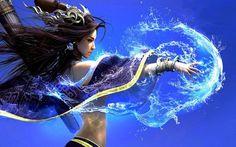 Water spell Fantasy HD desktop wallpaper, Water wallpaper, Woman wallpaper, Witch wallpaper, Spell wallpaper - Fantasy no. Fantasy Female Warrior, Fantasy Witch, Fantasy Women, Female Art, Fantasy Art, Raven Marvel, Water Spells, Magic Realms, Water Witch