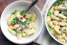 gnocchi with peas and pancetta More
