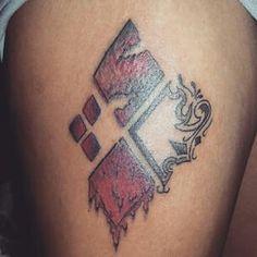 Harley quinn inspired tattoo
