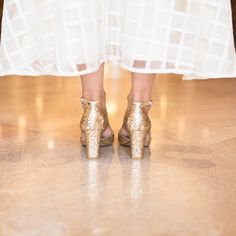 Get your sparkle on with these beauties from @shoesofprey  #sparkle #wedding #bride #bridesmaids #bridalshoes #shoelove #heels #shoeporn #goldshoes