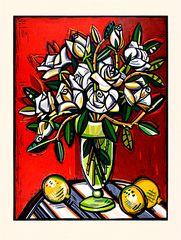 White Roses by David Bates  artslant.com