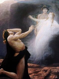 Orpheus and Eurydice. 1896. Eduard Kasparides. Austrian. 1858-1926. oil on canvas. http://hadrian6.tumblr.com