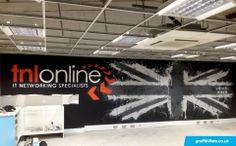 Client: Tnl online - #graffiti #design #interiordesign #office #handpainted #bespoke #custom #chester #unionjack  #logo  #type  #typography