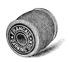 Vintage Sewing Clip Art - Thread - Embroidery - The Graphics Fairy