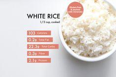 White Rice Benefits, Easy Rice Recipes, Vegan Recipes, White Rice Nutrition Facts, Rice Facts, Cooking White Rice, Gluten Free Grains, A Food, Favorite Recipes