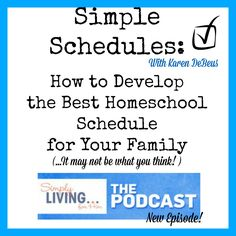 Simple Homeschool Schedules