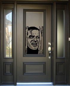 The Shining Decal, Jack Nicholson Decal, Wall Decal, Car Decal, Heres Johnny, Yeti Decal, Halloween Decal, Jack Nicholson, Redrum, Scary by Stickythingz on Etsy https://www.etsy.com/listing/218441024/the-shining-decal-jack-nicholson-decal