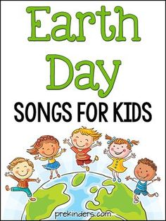 Here are some fun Earth Day songs for kids - get them moving and singing along! Earth Day songs to go along with your Earth Day & Recycling lesson plans.