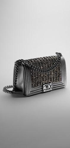 Boy CHANEL flap bag with metallic... - CHANEL Women's Handbags & Wallets - http://amzn.to/2iZOQZT
