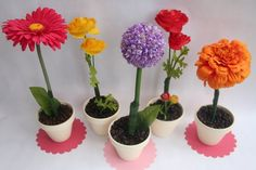 Mother's Day gift - Pen flowers.