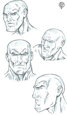 Study face male comics  Ilustração: Leandro Sans Site: http://leandrosans.flavors.me Instagram: @leandro_sans