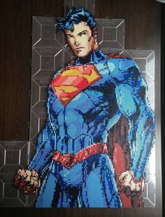 Superman Unchained Perler Bead