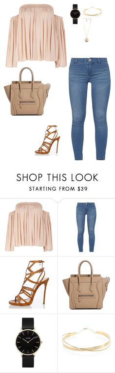 """Untitled #14"" by gilbeli on Polyvore featuring Elizabeth and James, Dorothy Perkins, Dsquared2, CLUSE, Lana Jewelry and Givenchy"