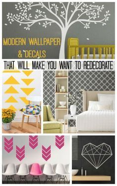 Modern Wall Decals and Wallpaper That Will Make You Want to Redecorate!  | eBay #ad