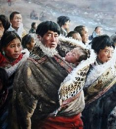 Chinese artist Liu Yungsheng is one of the leading watercolor painters of his generation. Making use of inherited traditional techniques… Watercolor Artists, Watercolor Portraits, Watercolor Paintings, Watercolours, Henri Matisse, Chinese Painting, Chinese Art, Figure Painting, Painting & Drawing