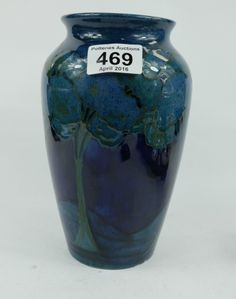 Top 25 Highest Selling Lots - Collectors & General Auction – Lot 469 – Moorcroft Moonlit vase (slight chipping to edge of base) 21cm height.  Sale Price £500.00