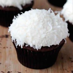 Cupcakes de Chocolate y coco - Recetas de cupcakes fáciles