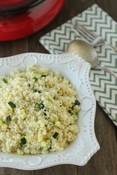 Zucchini Couscous- (eliminate wine and substitute vegetable broth for chicken broth