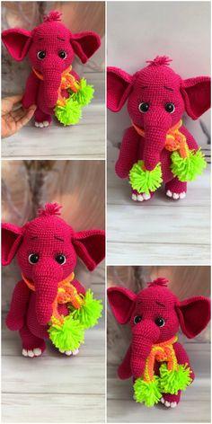 New pattern – Tiny luck elephant. For sale ༺✿Teresa Restegui ... | 472x236