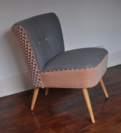 Cocktail Chair by RestoredbyLiat on Etsy, Down To The Bone, Cocktail Chair, Tub Chair, 1950s, Accent Chairs, Upholstery, Cocktails, Mid Century, Traditional