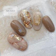 Perfect Nails, Gorgeous Nails, Love Nails, Pretty Nails, Japan Nail, Tie Dye Nails, Korean Nails, Japanese Nail Art, Minimalist Nails
